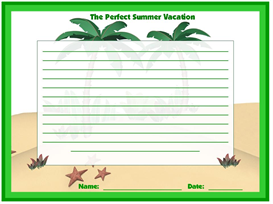 The Perfect Summer Vacation Stationary Set | Other Files | Documents and Forms