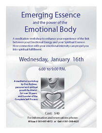 emerging essence:  the power of the emotional body