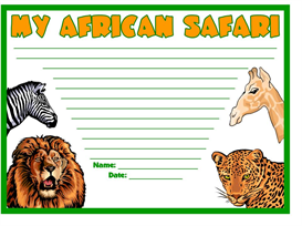 our african safaris stationery
