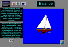 Balance in a Sailboat: Using Crew Weight and Position for Blackberry | Software | Training