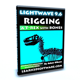 Lightwave 3D 9.6 Rigging a T-Rex with Bones | Movies and Videos | Educational