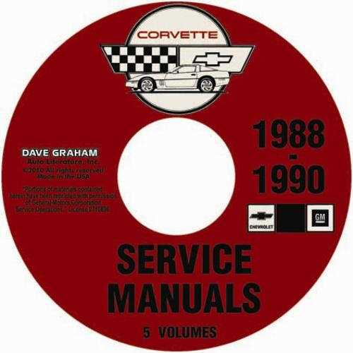 First Additional product image for - 1988-1990 Chevrolet Corvette Shop Manuals