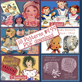10 CLASSIC Patterns to Make your Little One Sweet OUTFITS PDF download Children clothing patterns | Crafting | Sewing | Other
