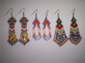 Brick Stitch Delica Seed Beading Fringe Earring Pattern-203 | Other Files | Arts and Crafts