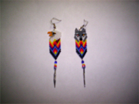 Brick Stitch Eagle/Wolf Delica Seed Beading Earring Pattern-223 | Other Files | Arts and Crafts
