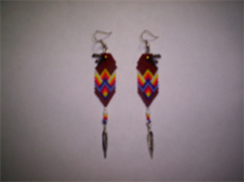 Brick Stitch Golden Eagle Delica Seed Beading Earring Pattern-224 | Other Files | Arts and Crafts