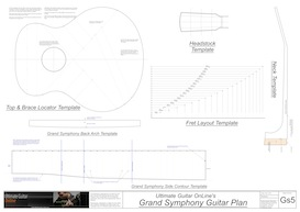 gs guitar template set