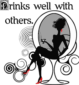 Drinks well with others-lady | Crafting | Sewing | Gifts