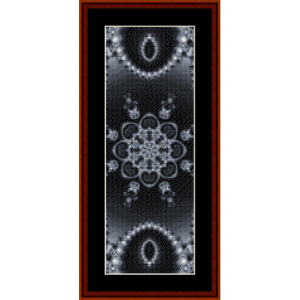 fractal 302 bookmark cross stitch pattern by cross stitch collectibles