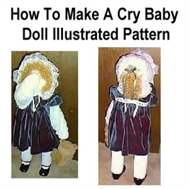 how to make a cry baby doll pattern