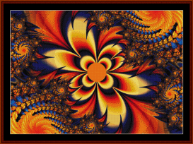 fractal 296 cross stitch pattern by cross stitch collectibles