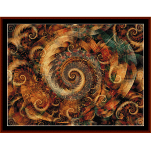 Fractal 301 cross stitch pattern by Cross Stitch Collectibles | Crafting | Cross-Stitch | Wall Hangings