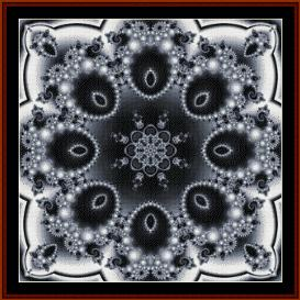 fractal 302 cross stitch pattern by cross stitch collectibles