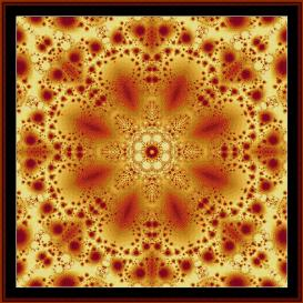 fractal 303 cross stitch pattern by cross stitch collectibles