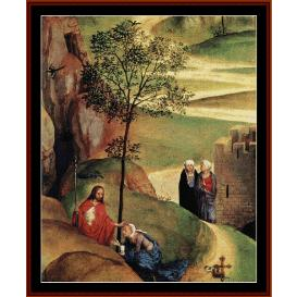 advent & triumph of christ - memling cross stitch pattern by cross stitch collectibles
