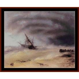 The Storm - Aivazovsky cross stitch pattern by Cross Stitch Collectibles | Crafting | Cross-Stitch | Wall Hangings