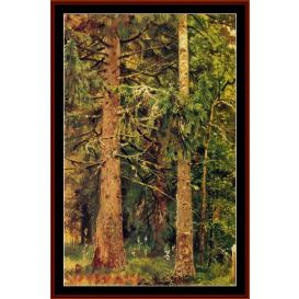 Firry Forest - Shishkin cross stitch pattern by Cross Stitch Collectibles | Crafting | Cross-Stitch | Wall Hangings