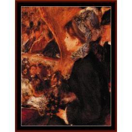 At the Theatre - Renoir cross stitch pattern by Cross Stitch Collectibles | Crafting | Cross-Stitch | Wall Hangings