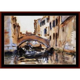 Venetian Canal - Sargent cross stitch pattern by Cross Stitch Collectibles | Crafting | Cross-Stitch | Wall Hangings