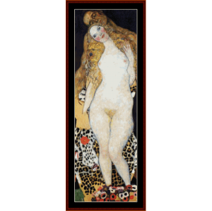 Adam and Eve - Klimt cross stitch pattern by Cross Stitch Collectibles | Crafting | Cross-Stitch | Wall Hangings