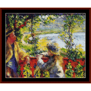 By the Lake - Renoir cross stitch pattern by Cross Stitch Collectibles | Crafting | Cross-Stitch | Wall Hangings