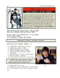 21, Whole-Movie English (ESL) Lesson | eBooks | Education