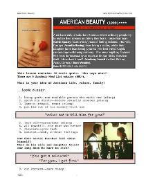 AMERICAN BEAUTY, Whole-Movie English (ESL) Lesson | eBooks | Education