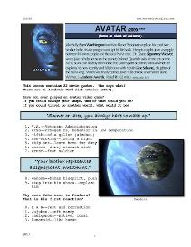 AVATAR, Whole-Movie English (ESL) Lesson | eBooks | Education