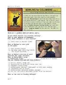 BOWLING FOR COLUMBINE,  Whole-Movie English (ESL)  Lesson | eBooks | Education