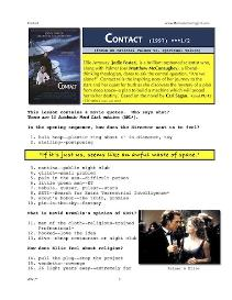 contact,  whole-movie english (esl) lesson
