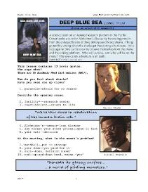 DEEP BLUE SEA,  Whole-Movie English (ESL) Lesson | eBooks | Education