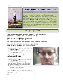 FALLING DOWN,  Whole-Movie English (ESL) Lesson | eBooks | Education