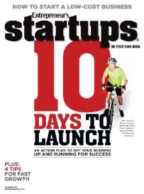 Entrepreneur's StartUps  10 Days to Launch | eBooks | Business and Money