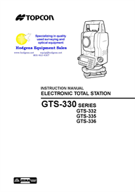 topcon gts-330 series geodetic total station instruction manual
