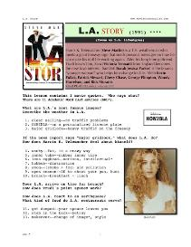 L.A. STORY, Whole-Movie English (ESL) Lesson | eBooks | Education