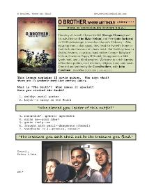 O BROTHER, WHERE ART THOU?, Whole-Movie English (ESL) Lesson | eBooks | Education
