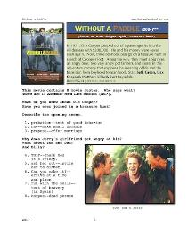 WITHOUT A PADDLE, Whole-Movie English (ESL) Lesson | eBooks | Education