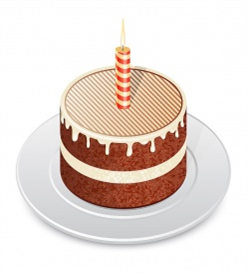 Vectorlib RF (Standard License): Chocolate cake with a candle