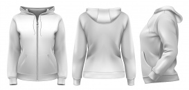 Vectorlib RF (Standard License): Vector. Women''s hoodie (front, side and back design)
