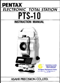 pentax total station pts-10 instruction manual