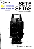 Sokkia Set 6 Set 6s Operators Manual | Documents and Forms | Manuals