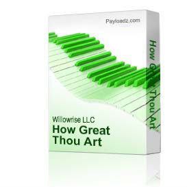 how great thou art sheet music