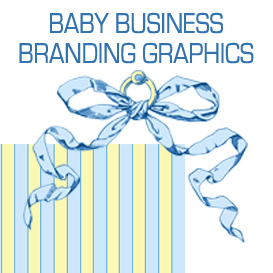 blue and yellow baby business branding designs