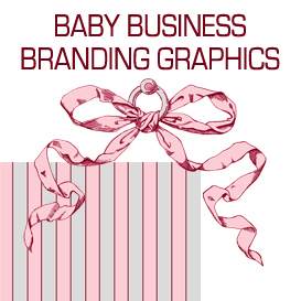 Pink and Grey Baby Business Branding Designs | Photos and Images | Business World