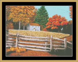 Fall Harvest Cross Stitch Pattern Download | Crafting | Cross-Stitch | Other