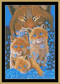Bobcat Kittens Cross Stitch Pattern Download | Crafting | Cross-Stitch | Other