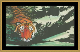 Tiger Water  Cross Stitch Pattern Download | Crafting | Cross-Stitch | Other