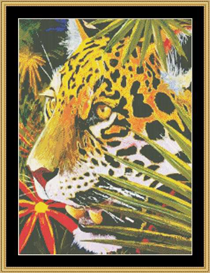 Jaguar Jungle Cross Stitch Pattern Download | Crafting | Cross-Stitch | Other