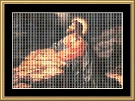 Jesus Praying Cross Stitch Pattern Download | Crafting | Cross-Stitch | Other