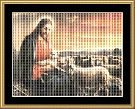 Jesus With The Lamb  Cross Stitch Pattern Download | Crafting | Cross-Stitch | Other